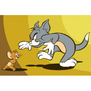 Кошки-мышки Раскраска картина по номерам на холсте