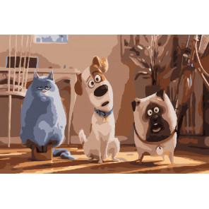 Жизнь домашних животных Раскраска картина по номерам на холсте
