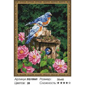 Количество цветов и сложность Уютный скворечник Алмазная вышивка мозаика на подрамнике EQ10069