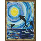 Танец дельфинов Алмазная вышивка мозаика на подрамнике EQ10119