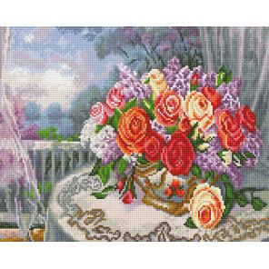 Букет чайных роз Алмазная вышивка мозаика на подрамнике EW10168