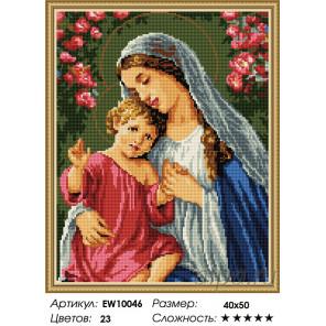 Количество цветов и сложность Богородица и младенец Алмазная вышивка мозаика на подрамнике EW10046