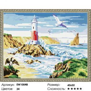 Количество цветов и сложность Маяк Алмазная вышивка мозаика на подрамнике EW10048