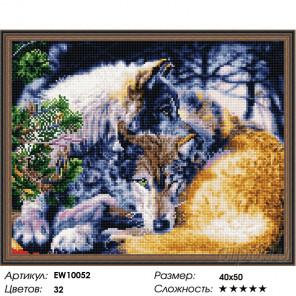 Количество цветов и сложность Волчья романтика Алмазная вышивка мозаика на подрамнике EW10052