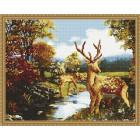 Семья оленей Алмазная вышивка мозаика на подрамнике EW10091