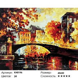 Количество цветов и сложность Афремов. Река воспоминаний Раскраска картина по номерам на холсте KH0196