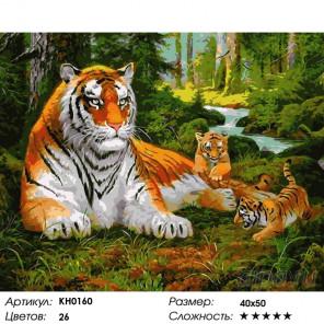Количество цветов и сложность Строгий отец Раскраска картина по номерам на холсте KH0160