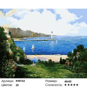Количество цветов и сложность Маяк в заливе Раскраска картина по номерам на холсте KH0162