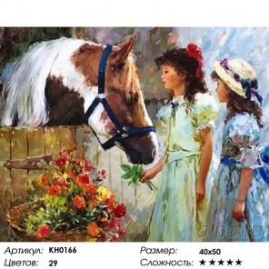 Количество цветов и сложность Визит к другу Раскраска картина по номерам на холсте KH0166