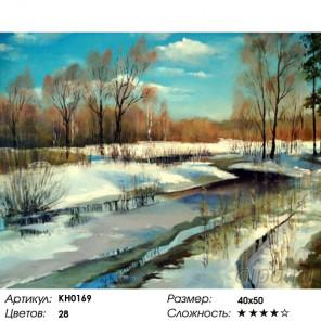 Количество цветов и сложность Весна Раскраска картина по номерам на холсте KH0169