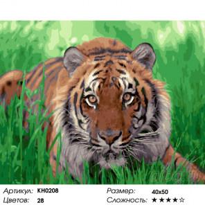 Количество цветов и сложность На охоте Раскраска картина по номерам на холсте KH0208