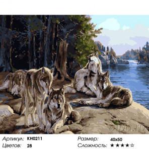 Количество цветов и сложность После охоты Раскраска картина по номерам на холсте KH0211