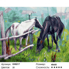 Количество цветов и сложность Утро в деревне Раскраска картина по номерам на холсте KH0217