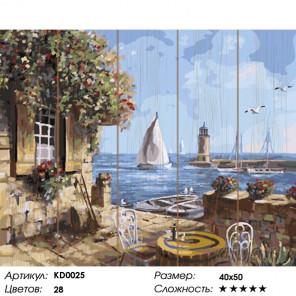 Количество цветов и сложность Летнее кафе Картина по номерам на дереве KD0025