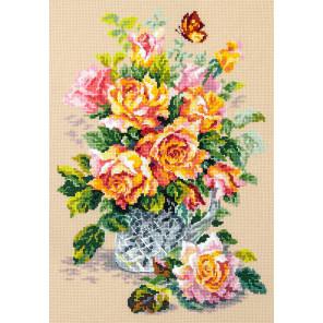 Чайные розы Набор для вышивания Чудесная игла 100-021