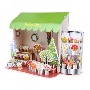Цветочный магазин 3D Пазлы Zilipoo