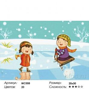 Количество цветов и сложность Зима Раскраска картина по номерам на холсте MC008