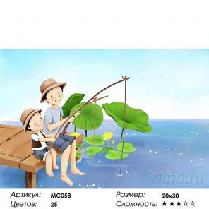 Количество цветов и сложность Друзья на рыбалке Раскраска картина по номерам на холсте MC058