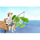 Друзья на рыбалке Раскраска картина по номерам на холсте MC058