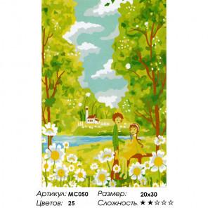 Количество цветов и сложность Каникулы Раскраска картина по номерам на холсте MC050
