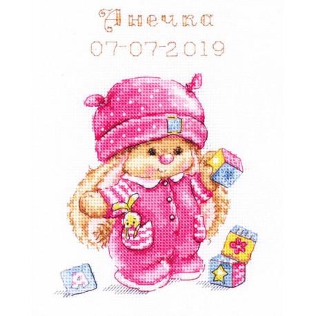 Зайка Ми малышка Набор для вышивания Алиса 0-188