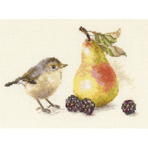 Птичка и груша Набор для вышивания Алиса 5-23