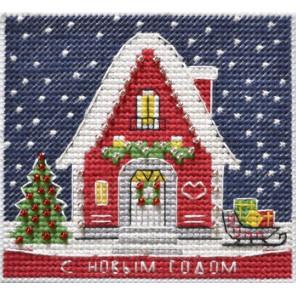 Новогодний домик. Магнит Набор для вышивания Овен