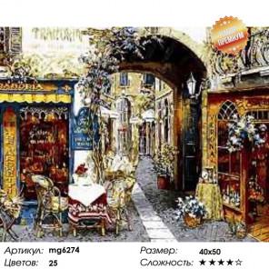 Количество цветов и сложность  Уютный дворик Раскраска картина по номерам на холсте MG6274