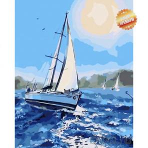 Количество цветов и сложность Быстрая яхта Раскраска картина по номерам на холсте MG2085