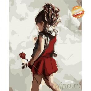 Маленькая леди Раскраска картина по номерам на холсте