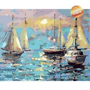 Количество цветов и сложность Морской колорит Раскраска картина по номерам на холсте MG2092