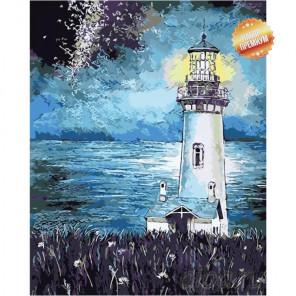 Темная ночь Раскраска картина по номерам на холсте
