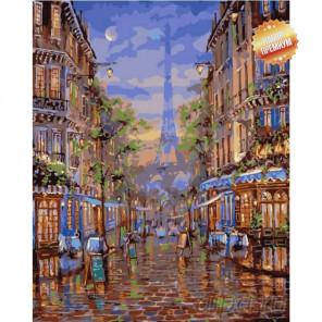 Уставший Париж Раскраска картина по номерам на холсте
