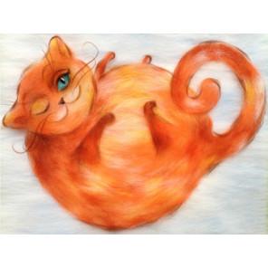 Рыжий кот Картина из шерсти Toyzy TZ-P031