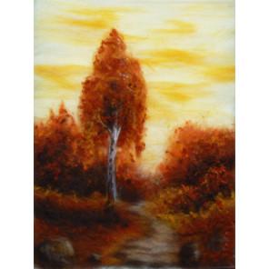Краски осени Картина из шерсти Toyzy TZ-P044