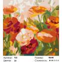 Количество цветов и сложность Маки Раскраска картина по номерам на холсте F22
