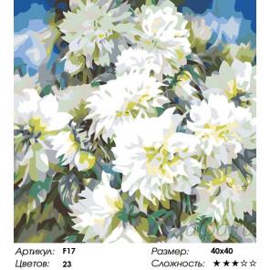 Количество цветов и сложность Хризантемы Раскраска картина по номерам на холсте F17