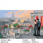 Количество цветов и сложность Свидание в Париже Раскраска картина по номерам на холсте FR02