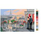 Раскладка Свидание в Париже Раскраска картина по номерам на холсте FR02