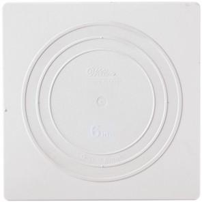 Квадрат 15,2см Тарелка пластиковая для коржей Wilton ( Вилтон )