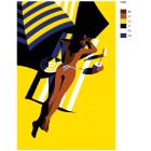 Раскладка Под жарким солнцем Раскраска картина по номерам на холсте PA60