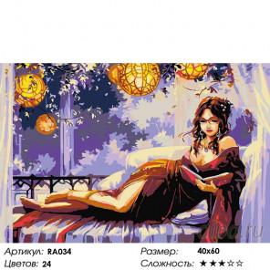 Количество цветов и сложность Девушка в кимоно Раскраска картина по номерам на холсте RA034