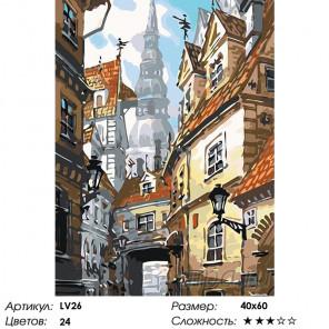 Старинные ворота Раскраска картина по номерам на холсте LV26