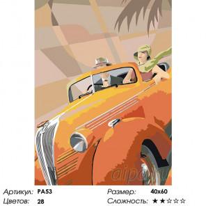 Количество цветов и сложность В модном авто Раскраска картина по номерам на холсте PA53