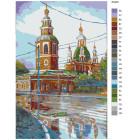 Раскладка Церковь на углу Раскраска картина по номерам на холсте RA049