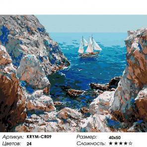Количество цветов и сложность Путешествие на паруснике Раскраска картина по номерам на холсте KRYM-CR09