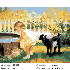 В деревне летом Раскраска картина по номерам на холсте RA002