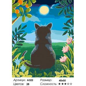 Количество цветов и сложность Большой светлячок Раскраска картина по номерам на холсте A322