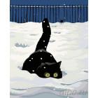 Зимняя охота Раскраска картина по номерам на холсте A77
