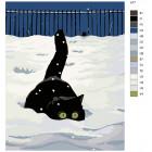 Раскладка Зимняя охота Раскраска картина по номерам на холсте A77